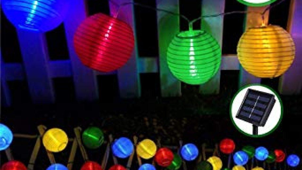 Blanc Chaud BrizLabs 6.5M Guirlandes Lumineuses Boules 8 Modes Etanche lampe solaire exterieu D/écorative pour Soir/ée Ext/érieure Maison Jardin Mariage 2 x 30 LED Guirlande Solaire Exterieure